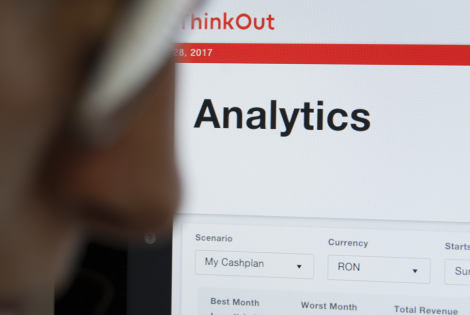 Analytics page on ThinkOut platform
