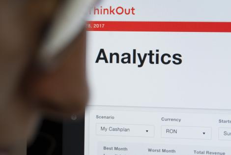 Analytics page on ThinkOut platform